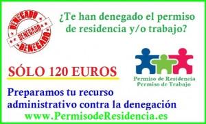 Recurso Administrativo denegación extranjería permiso residencia